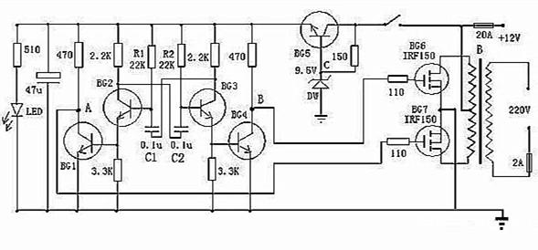 逆变电源设计电路及原理简介